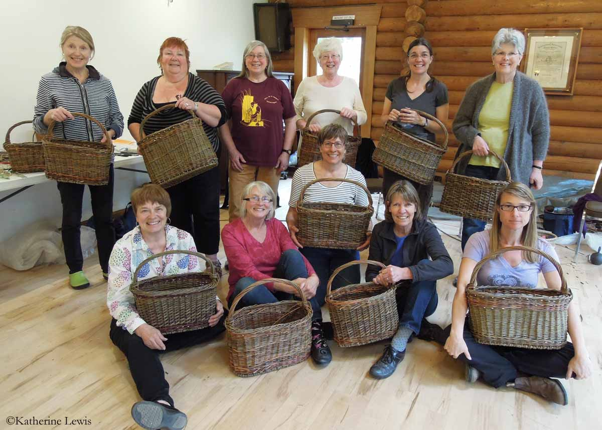 Salt Spring Island Basketry Guild willow class with Katherine Lewis