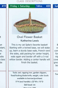 Katherine Lewis oval flower basket class
