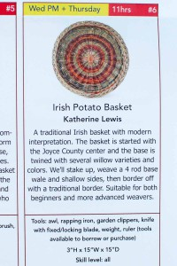 Katherine Lewis Irish potato basket class