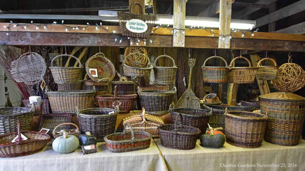 Dunbar Gardens farmstand willow baskets November 2016