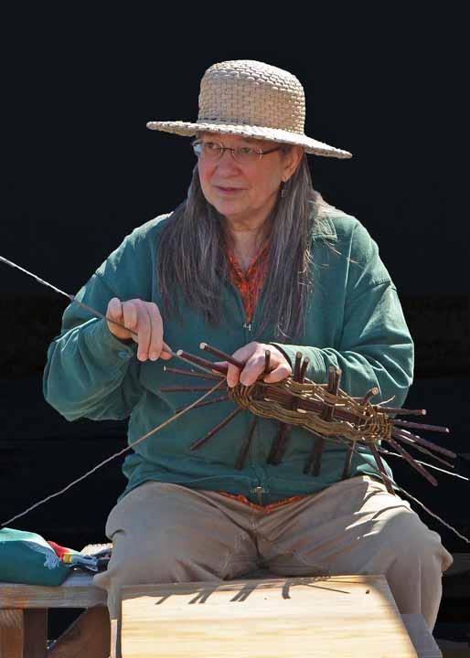 Katherine Lewis weaving