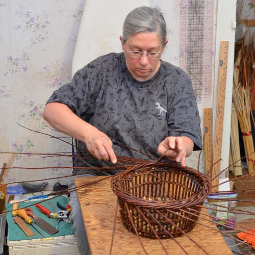 Katherine Lewis willow basketry teacher