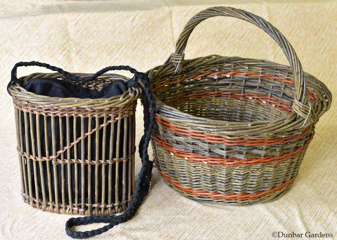 Katherine Lewis willow baskets class samples NWBG retreat