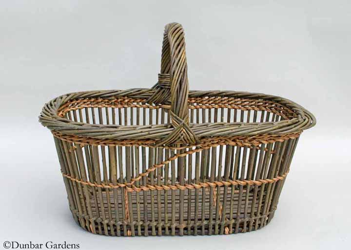 fitched willow shopper class basket