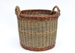 willow log basket with French randing