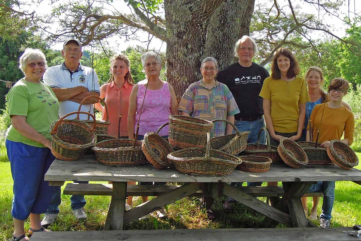 Peters Valley Willow Basketry Class with Katherine Lewis