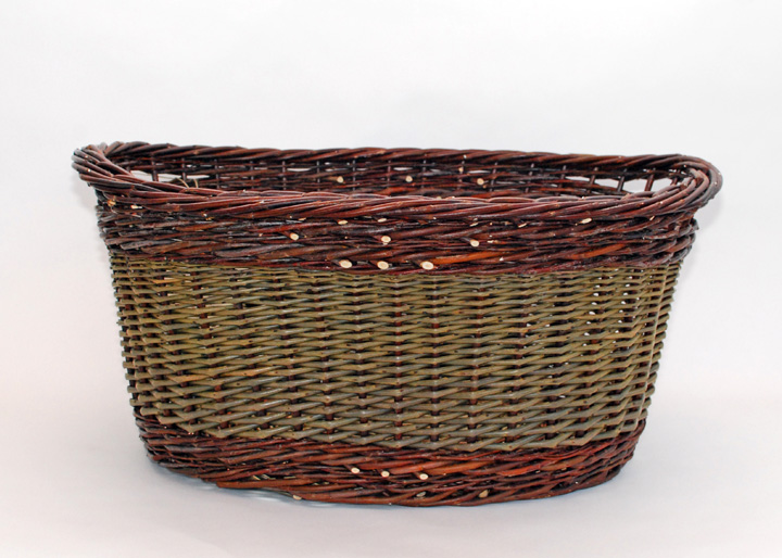 willow laundry with inset handles