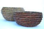willow rope coil baskets