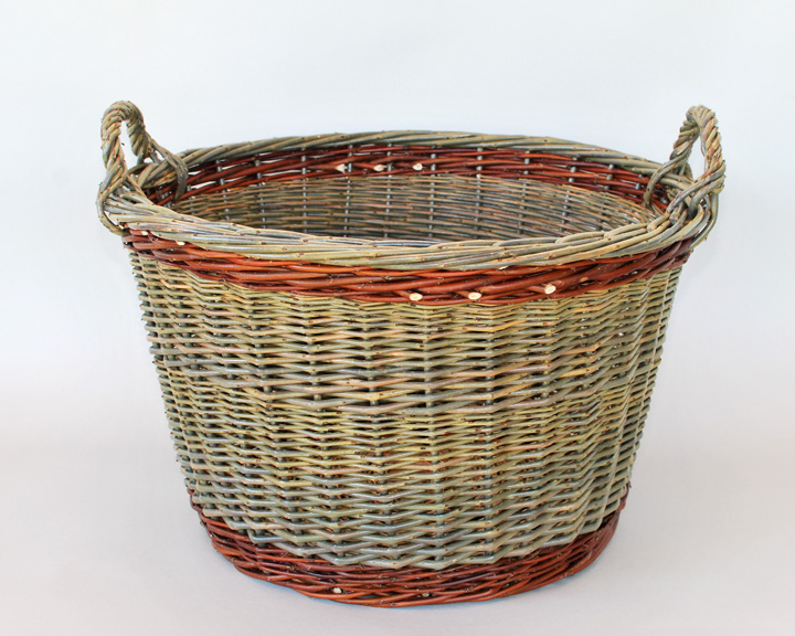 Round willow laundry willow baskets by katherine lewiswillow baskets by kat - Diametre panier basket ...