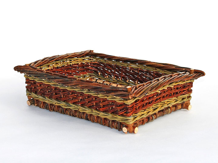 willow rectangular tray