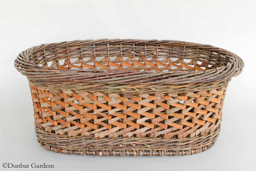 zig zag willow bark basket by Katherine Lewis