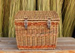 front rack willow bicycle basket with lid