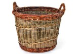 log basket with English randing side weave