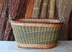 oval willow log basket